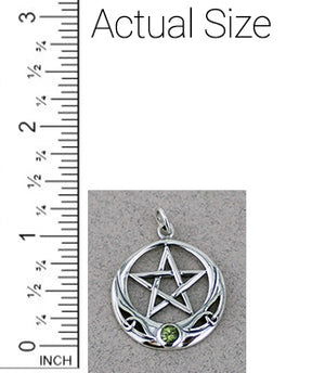 Pentacle Pendant with Gem