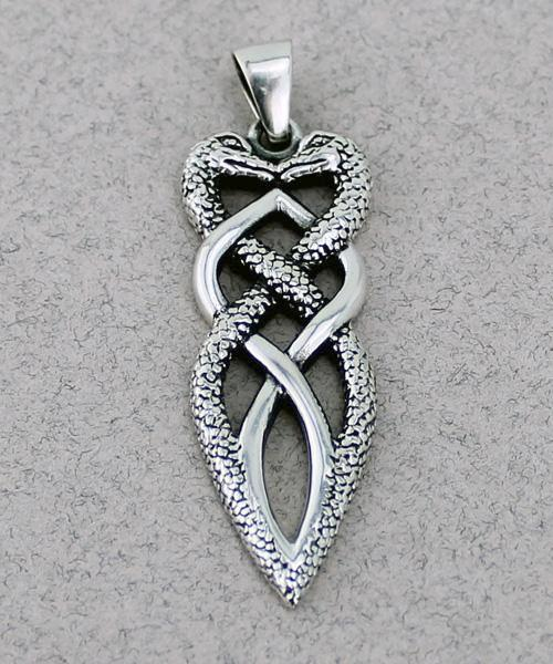 Double Snake Pendant -- DragonSpace
