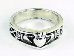 Claddagh Band Ring -- DragonSpace