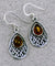 Celtic Earrings with Gem -- DragonSpace