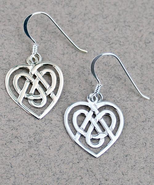 Celtic Heart Earrings -- DragonSpace
