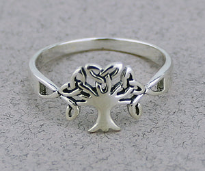 Triquetra Tree of Life Ring