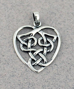 Celtic Heart Pendant -- DragonSpace