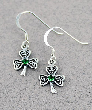 Shamrock Earrings -- DragonSpace