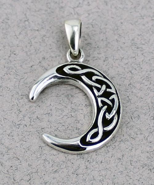 Crescent Moon Pendant -- DragonSpace