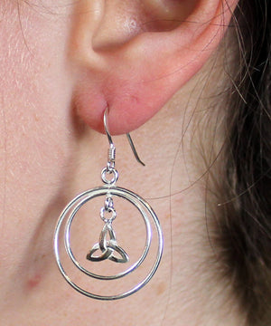 Triquetra Hoop Earrings