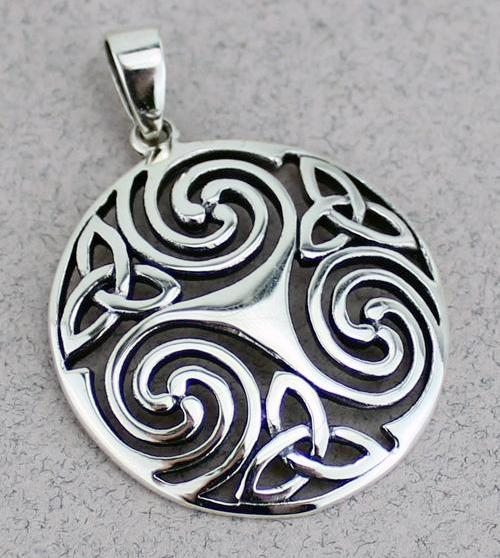 Celtic Triskele Pendant -- DragonSpace