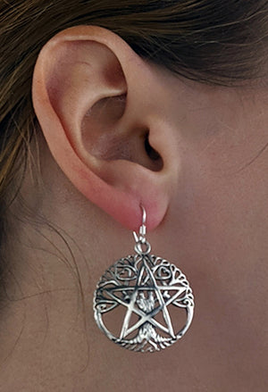 Pentacle Tree Earrings