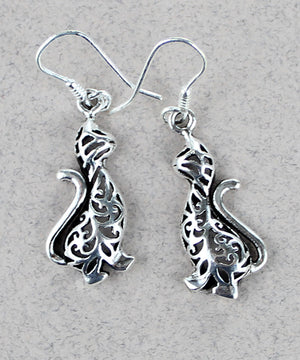 Art Nouveau Cat Earrings