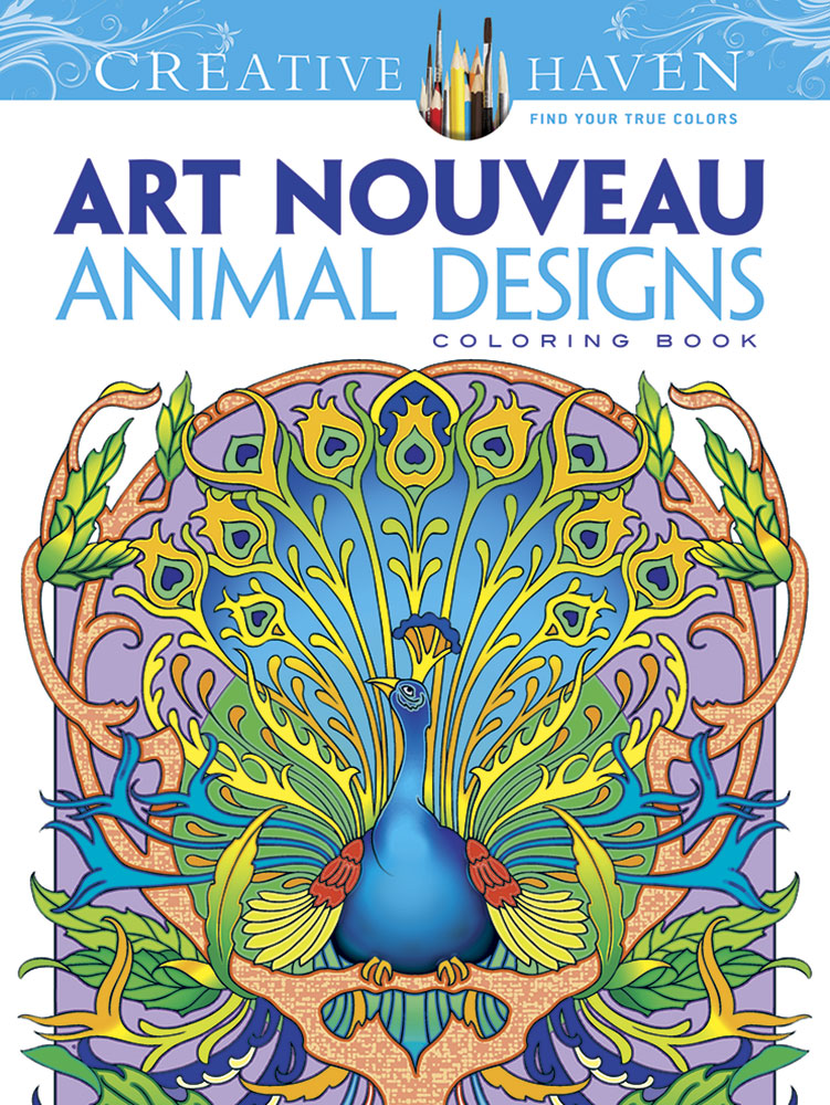 Art Nouveau Animal Designs Coloring Book