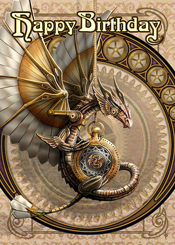 Clockwork Dragon Card -- DragonSpace