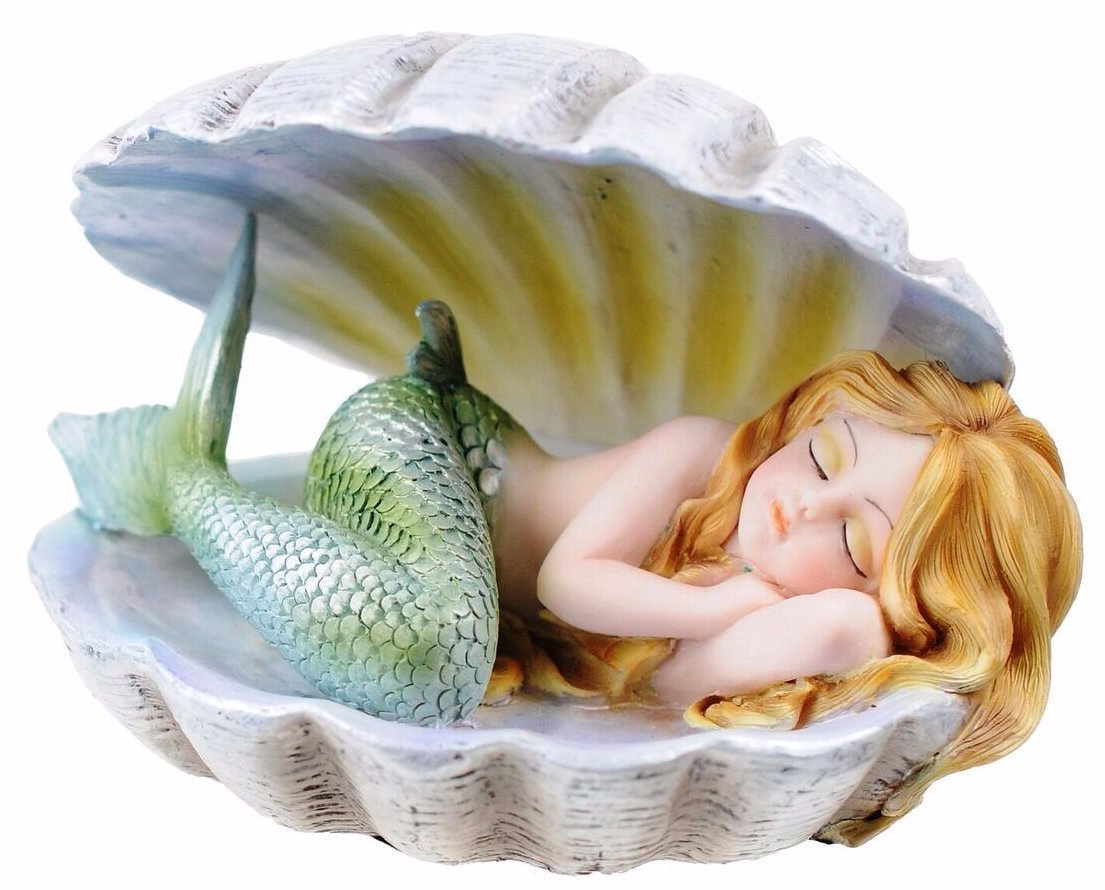 Mermaid Sleeping in Clam Shell