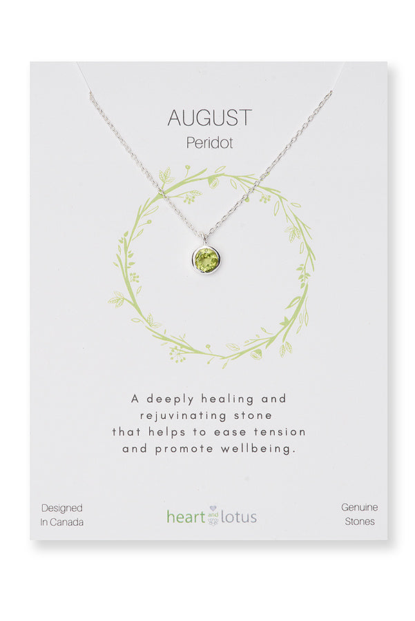 August Birthstone Necklace (Peridot)