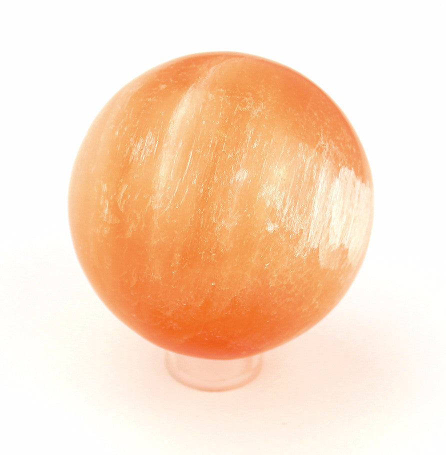 Orange Selenite Crystal Ball