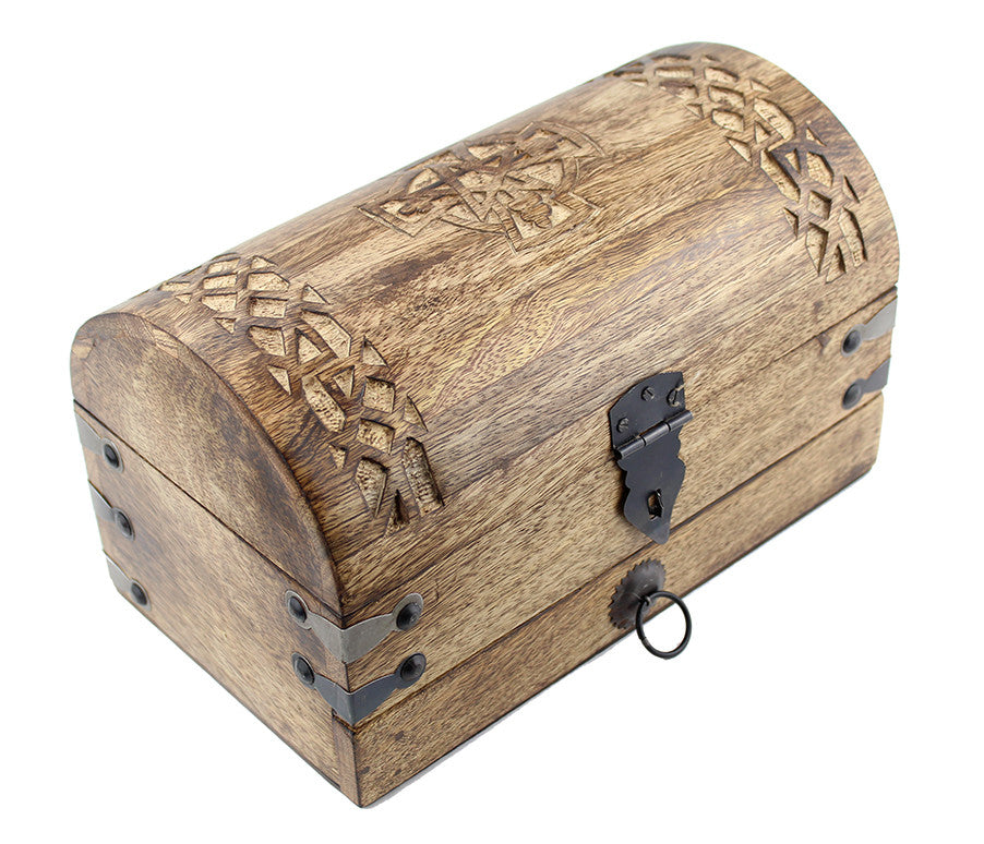 Celtic Cross Treasure Chest -- DragonSpace