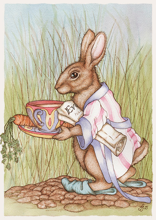 Rabbit with Cuppa Card