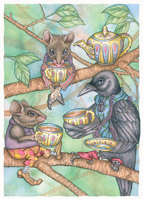 Three for Tea Card