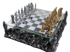 Battling Knights Chess Set