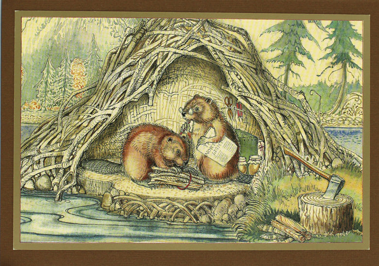 Beaver Lodge Card -- DragonSpace