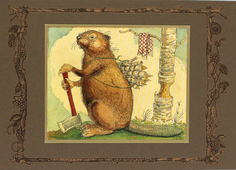 Beaver Working Card -- DragonSpace