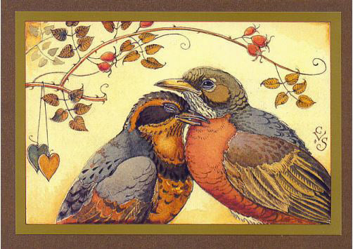 Robins in Love Card