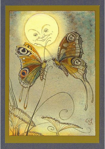 Butterflies & Moon Card -- DragonSpace