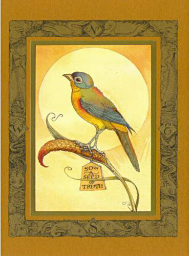 "Bird ""Sow a Seed"" Card -- DragonSpace"