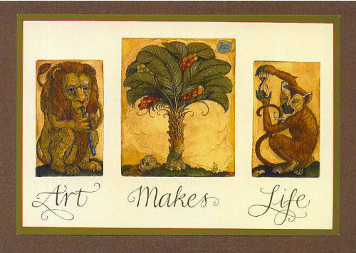 Art Makes Life Card -- DragonSpace