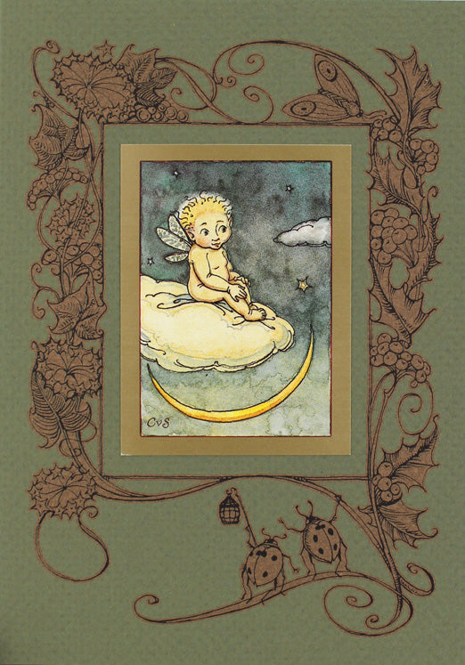 Fairy Boy on Cloud Card