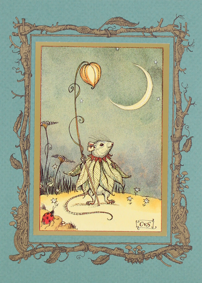 Mouse Fairy Moon Card