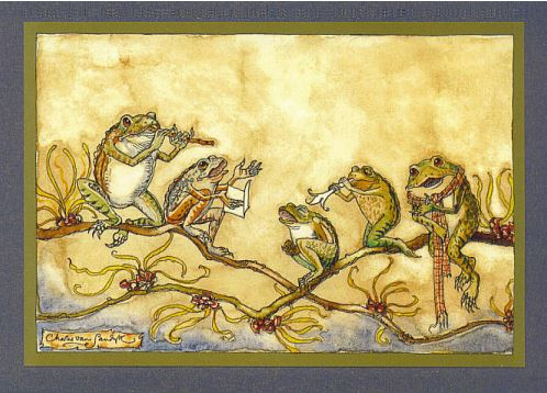 Frog Quintette Card -- DragonSpace