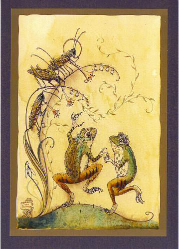 Frogs Dancing Card -- DragonSpace