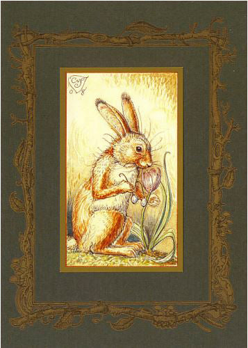 Mr. Rabbit & Tulip Card