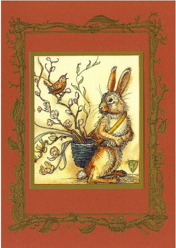 Mr. Rabbit & Basket Card