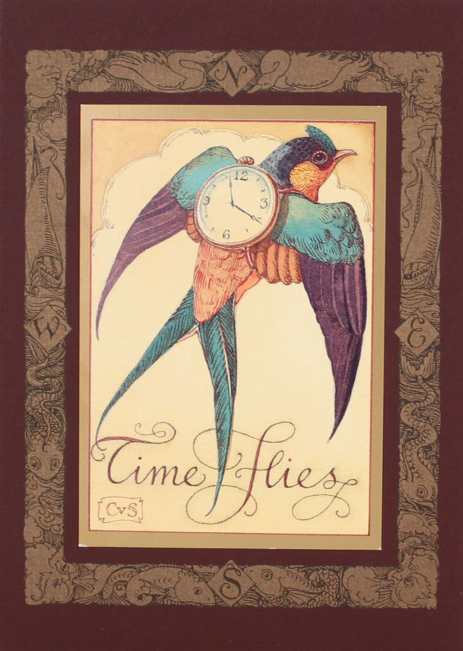 Time Flies Swallow Card