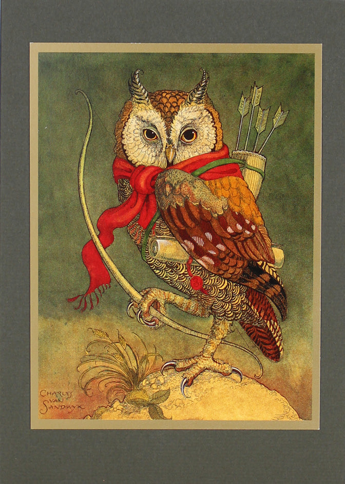 Owl with Quiver Card
