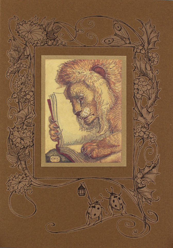 Lion with Book Card