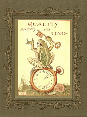 Quality Time Frog Card