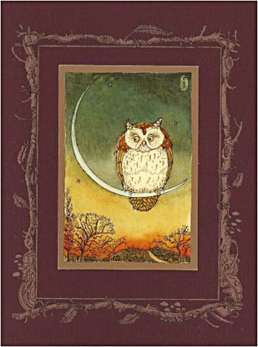 Owl on Moonbow Card