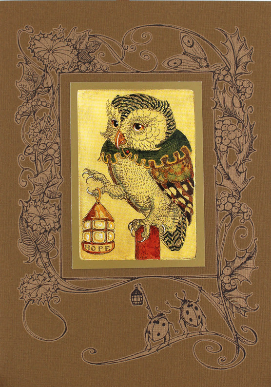 Owl with Lantern Hope Card