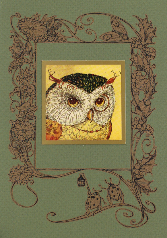 Horned Owl Card