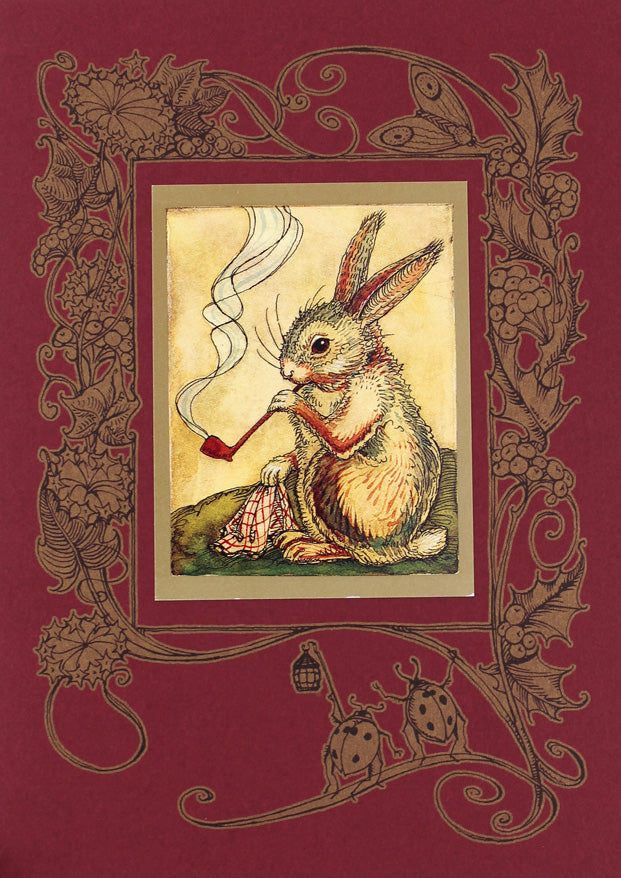 Mr. Rabbit with Pipe Card