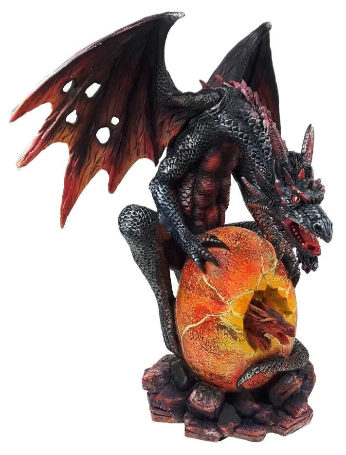 Dragon with Fire Hatchling