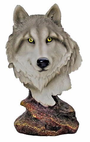 Pack Leader Wolf Bust