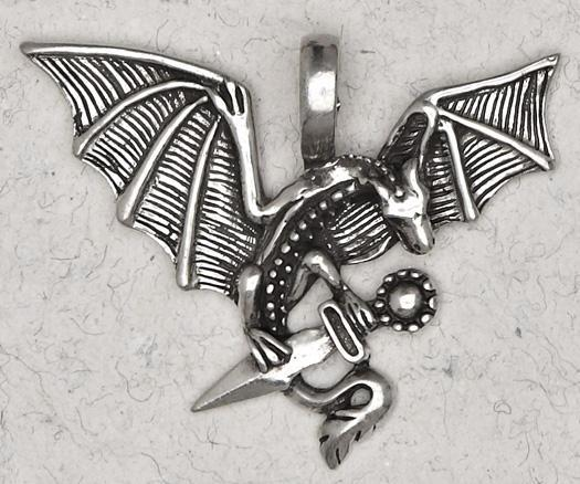 Celtic Dragon Necklace -- DragonSpace