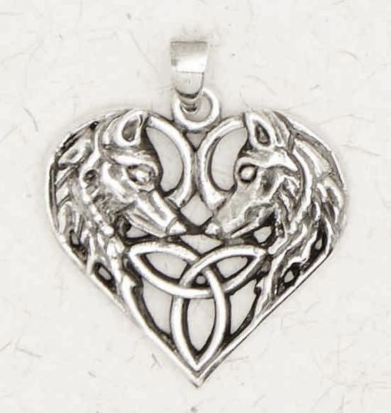 Celtic Wolves Necklace -- DragonSpace