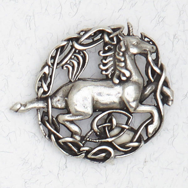 Celtic Unicorn Necklace -- DragonSpace