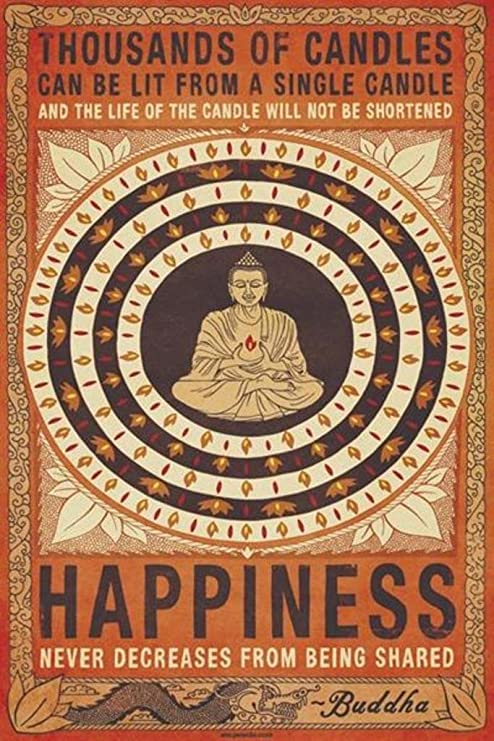 Happiness Candle Poster
