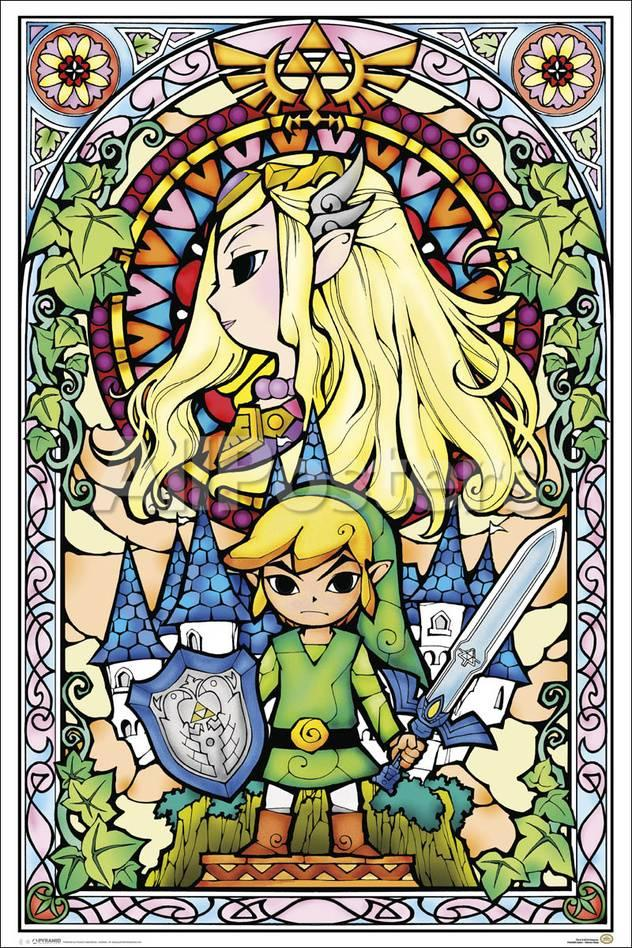 Legend of Zelda Stained Glass Poster