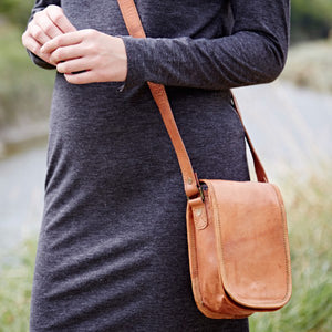 Mini Leather Courier Bag